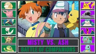 Ash vs. Misty (Pokémon Sun/Moon) - Battle of Companions