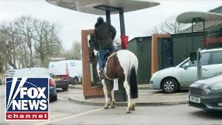 McDonald's drive-thru denies service to man on horseback