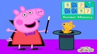 Peppa Pig Games ☀ Peppa Pig Number Memory Gameplay | Peppa Pig Games for Kids | Peppa Pig App Demo