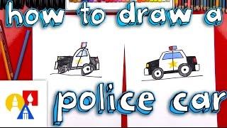 How To Draw A Cartoon Police Car