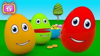 Learn Colors with Surprise EGGS for Kids - Colours EGGS for Children Toddlers