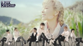 Taeyeon Vs. BTS - Just One Day & I (Mashup)