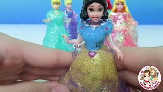 Glitter Putty Part 2 Magiclip Princesses Dresses CInderella Ariel Aurora Tinker Jasmine Snow White