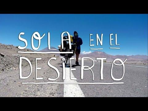 Otra vez Sola En Bici y Entrando en Chile por Ollagüe. CICLOVIAJEROS.