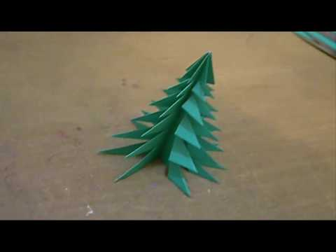 How to make an easy and pretty Origami 3D Paper Xmas Christmas Tree