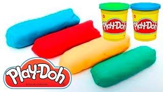 How to Make Play Dough Play-Doh Toys Rainbow Colors Play Doh Rainbow Ice Creams