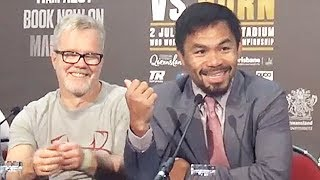 PACQUIAO CRACKS JOKE ABOUT FIGHTING IN JEFF HORN'S HOMETOWN; SAYS BOOS INSPIRE AND MOTIVATE HIM