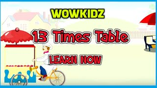 Musical tables - 13 Times Table - HD