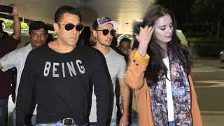 Airport Spotting 13th Oct 2016 - Salman Khan, Evelyn Sharma, Rohit Roy