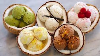 5 NEW Ice Cream Flavors + Dairy-Free Coconut Recipe: Homemade Ice Cream (No Machine)