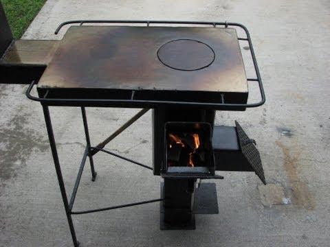 A Rugged Multi Fuel Multi Use Rocket stove