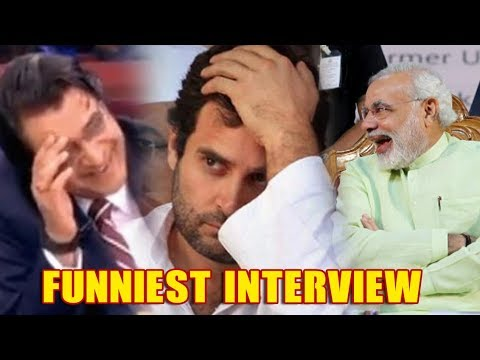 Rahul Gandhi's Most FUNNIEST Interview With Arnab Goswami