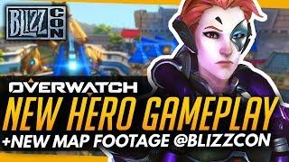 Overwatch   FIRST MOIRA GAMEPLAY NEW HERO ft. NEW MAP BLIZZWORLD