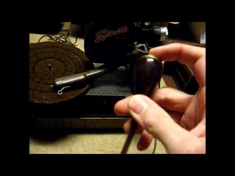 Unboxing first look at an Explainette record player & projector combination from the late 40 s.