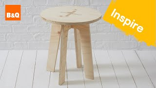 Create a plywood stool
