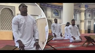 Anthony Joshua clarifies Mosque visit.