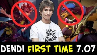 Dendi playing 7.07 FIRST TIME — EZ new heroes