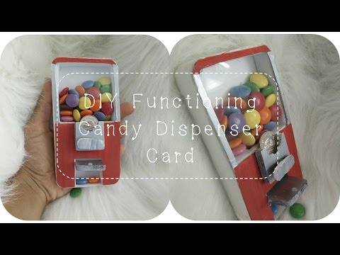 DIY Functioning Candy Dispenser Card TUTORIAL