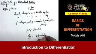 3. Class 11th Physics | Basics of Differentiation | Introduction to Differentiation |by Ashish Arora