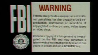 Warner Home Video FBI Warning and Canadian warning scroll