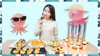 E39 Takoyaki!Cooking Octopus Balls in office!| Ms Yeah