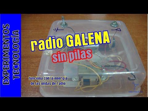 Radio que funciona SIN pilas ni corriente. Radio galena. TupperElectrónica