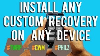 install twrpcwm recovery on any device no rootmiletvyumeizulenovooneplushonourasus