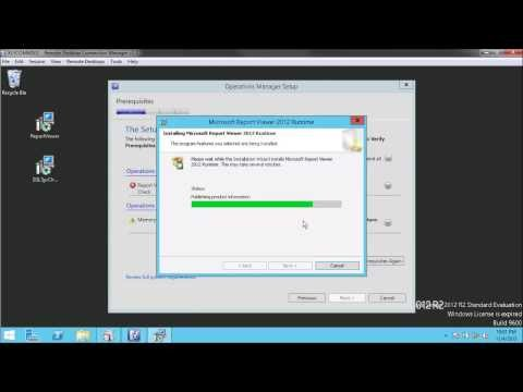 04 SCOM 2012 R2 Installation and Configuration - Install Management Server and Console