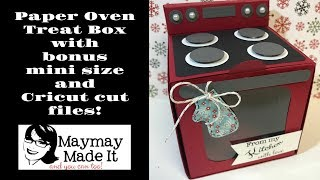 Paper Stove Cupcake or Cookie Treat Holder