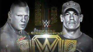 [WWE Highlights]-Brock Lesnar VS John Cena (Night Of Champion 2014)