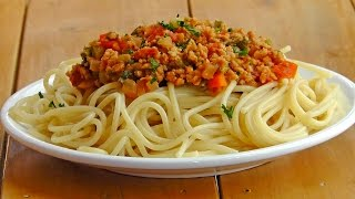 Italian Pasta Ragu Bolognese - Vegan Vegetarian Recipe