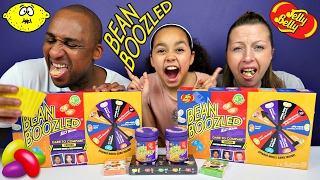 BEAN BOOZLED CHALLENGE! Parents Eat Super Gross Jelly Beans Candy - Daddy Freaks Out