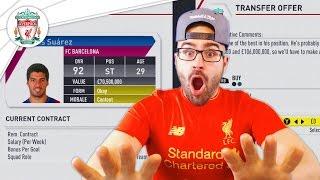 SUAREZ RETURNING TO LIVERPOOL! FIFA 17 Career Mode #02