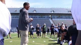 Hal Mumme & Fred Bilentikoff Speak to Nevada Football at Spring Practice