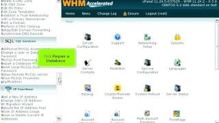 How to repair a MySQL database in WHM
