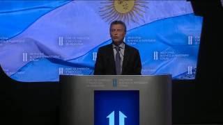 El presidente Mauricio Macri abrió el Foro de Inversión y Negocios de Argentina.