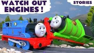 Thomas and Friends Watch Out Engines Toy Trains Accident Episodes - Train Toys for kids play TT4U