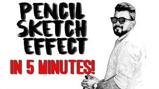 Pencil Sketch Effect in Less Than Five Minutes! Adobe Photoshop CC Tutorial 2017
