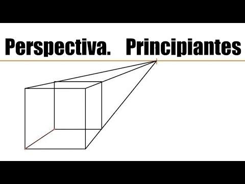 Tutorial Perspectiva. Principiante 1 punto de fuga. crear un cubo dividir en 2 y 3 partes objeto.