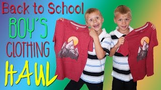 Back to School Clothing Haul for the Boys