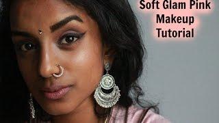 ♡ SOFT PINK GLAM MAKEUP TUTORIAL FOR MEDIUM TO DARK SKIN GIRLS   VOGUEUNICORN ♡
