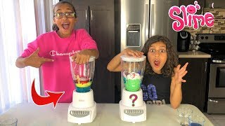 MAKING SLIME IN A BLENDER!! kids fun