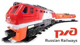 TRAINS FOR CHILDREN VIDEO: Freight Train RZD (Russian Railways) Full Review Toys