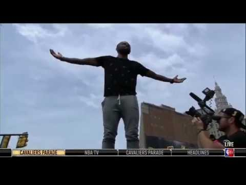 Kyrie Irving Greets the Crowd   Cavaliers Championship Parade   June 22, 2016   NBA Finals