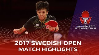 2017 Swedish Open Highlights: Lin Gaoyuan vs Maharu Yoshimura (R32)