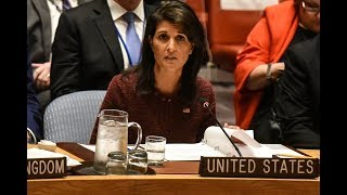 WATCH LIVE: U.N. Amb. Haley holds news briefing in New York City