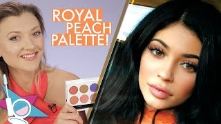 Kylie Jenner Cosmetics Royal Peach Palette Eyeshadow Unboxing and Review! -Beautyscoop