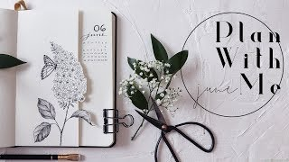 Plan With Me | June 2019 Bullet Journal Lilacs