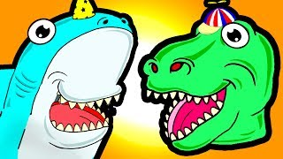 """My Cute Shark Attack Cartoon #63 (Shark-Copter vs. Dino-Copter!!! BEST OF!!) kids cartoons!"