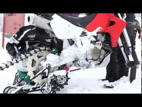 Как на мотоцикл сделать гусеницы